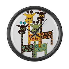 Cute Giraffe Large Wall Clock