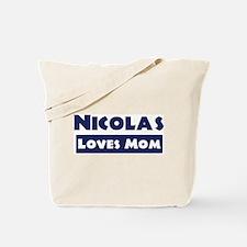 Nicolas Loves Mom Tote Bag