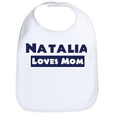 Natalia Loves Mom Bib