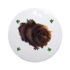 Holly Guinea Pig -  Ornament (Round)