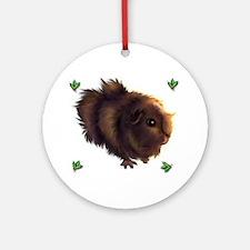 Holly Guinea Pig -  Ornament (Round)