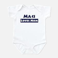 Maci Loves Mom Infant Bodysuit