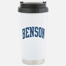 Benson Collegiate Last Name Stainless Steel Travel
