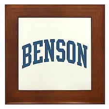 Benson Collegiate Last Name Framed Tile