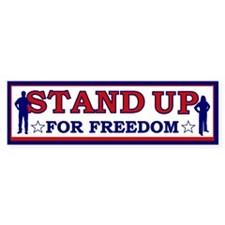 Stand Up For Freedom Bumper Bumper Sticker