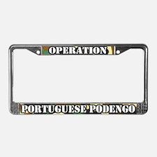 Operation Portuguese Podengo License Plate Frame