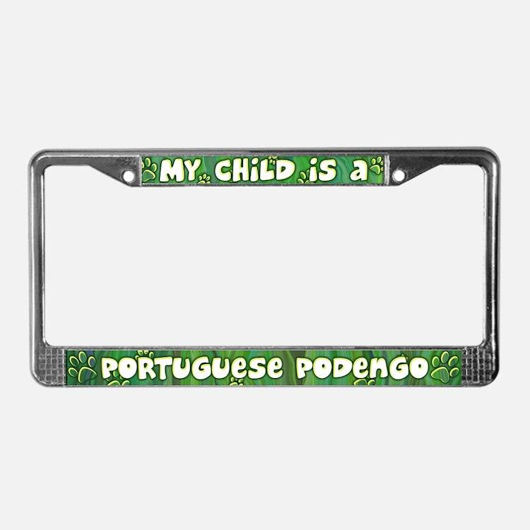 My Kid Portuguese Podengo License Plate Frame