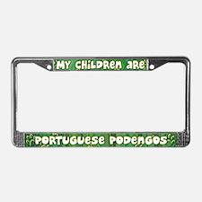 My Children Portuguese Podengo License Plate Frame