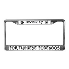 Owned by Portuguese Podengos License Plate Frame
