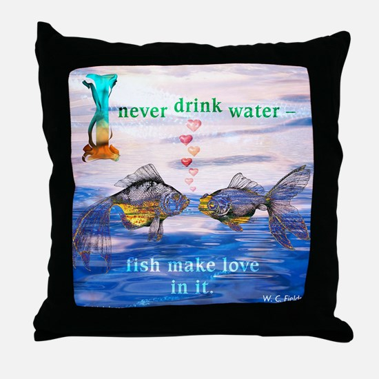 Fish Make Love Throw Pillow