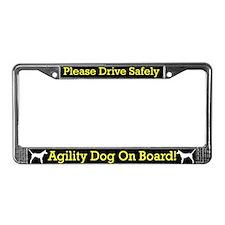 Portuguese Podengo Agility Dog License Plate Frame