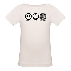 Peace Love Bulldogs Tee