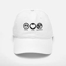 Peace Love Bulldogs Baseball Baseball Cap