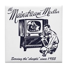 The Mainstream Media Tile Coaster