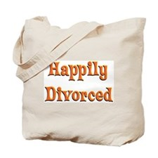 Happily Divorced (bright) Tote Bag
