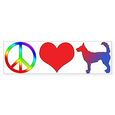 Peace Love Wire Portuguese Podengo Bumper Bumper Sticker