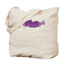 On Fire for the Lord Purple Tote Bag