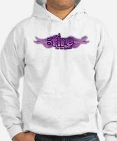 On Fire for the Lord Purple Hoodie
