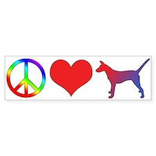 Peace Love Smooth Podengo Bumper Bumper Sticker