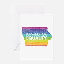Iowans for Equality-Rainbow Greeting Card