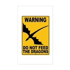 Do Not Feed the Dragons Rectangle Decal