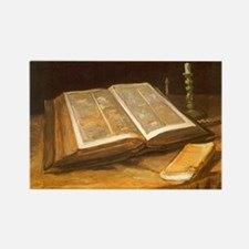 Van Gogh Still Life with Bible Rectangle Magnet (1