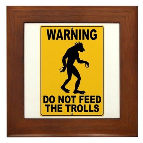 Do Not Feed the Trolls Framed Tile