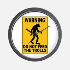 Do Not Feed the Trolls Wall Clock