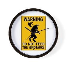 Do Not Feed the Minotaurs Wall Clock