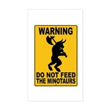 Do Not Feed the Minotaurs Rectangle Decal
