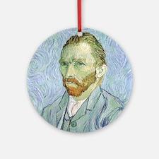 Van Gogh Self Portrait Ornament (Round)