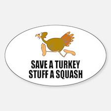 Vegetarian Thanksgiving Sticker (Oval)