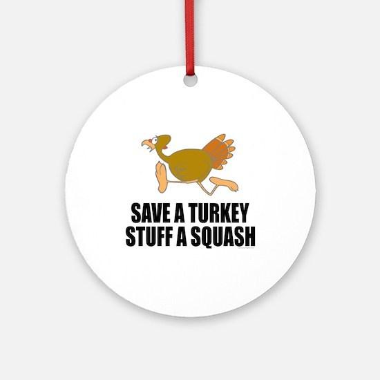 Vegetarian Thanksgiving Ornament (Round)