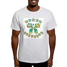 Cat Menorah Ash Grey T-Shirt