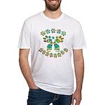 Cat Menorah Fitted T-Shirt