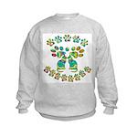 Cat Menorah Kids Sweatshirt