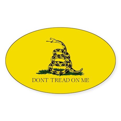 Gadsden Flag Oval Bumper Sticker