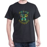 Cat Menorah Black T-Shirt