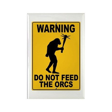 Do Not Feed the Orcs Rectangle Magnet