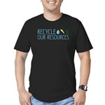 Recycle Our Resources Men's Fitted T-Shirt (dark)