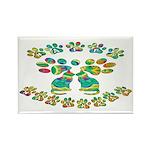 Cat Menorah Rectangle Magnet (10 pack)