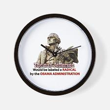 Thomas Jefferson founding father Wall Clock