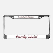 Naturally Selected License Plate Frame