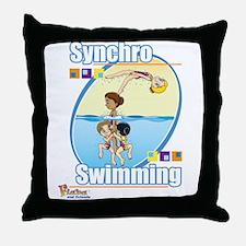 Synchro Stars3 Throw Pillow