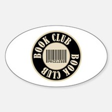 Book Club is Priceless Oval Decal