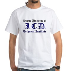 ICD Tech White T-Shirt