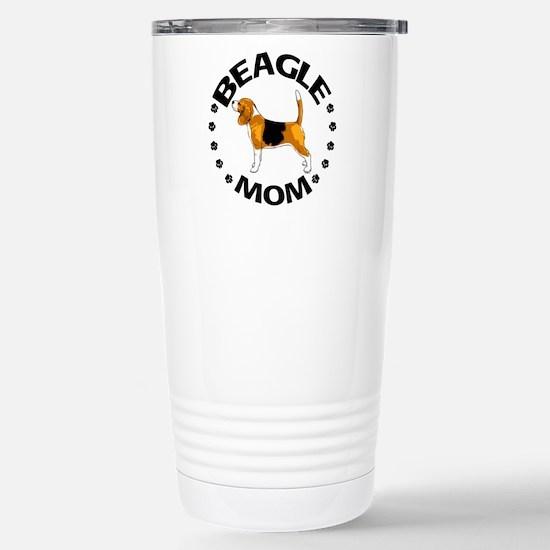 Beagle Mom Stainless Steel Travel Mug