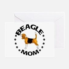 Beagle Mom Greeting Card