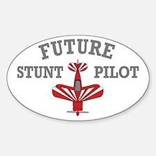 Future Stunt Pilot Oval Decal