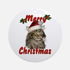Merry Christmas Ornament (Round)